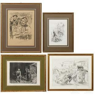 Four German prints by Barlach, Corinith und Slevogt,
