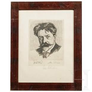 John Philipp - a signed etching of Arthur Nikisch