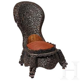 An exceptional Indian children's chair, 19th century