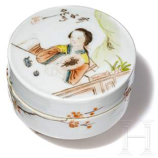 A Chinese famille rose circular box, GuangXu, circa