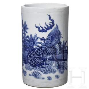 A Chinese blue-and-white vase, early 20th century