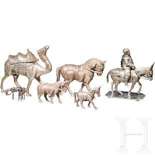 Convolute of silver miniatures, animals, Asia,