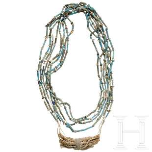 An Egyptian necklace, Late Period, 6th - 4th century