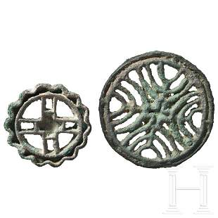 Two Central Asian compartment seals, 2nd century B.C.