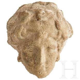 A Greek-Hellenistic terracotta head of Heracles, 3rd -