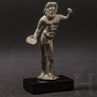 A Roman bronze statuette of Iupiter Optimus Maximus,