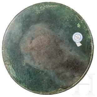 A Roman-Italian bronze mirror, 1st – 3rd century