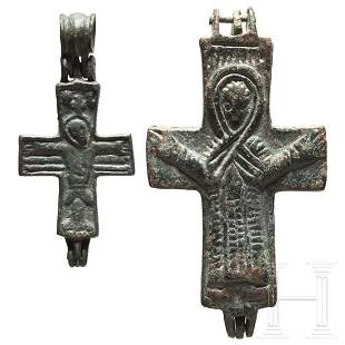 Two Byzantine Encolpia, 10th - 12th century