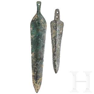 Two Central European daggers, early Bronze Age, 20th -