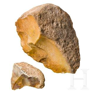 Two European or northern African Palaeolothic stone