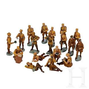 37 Elastolin/Lineol SA and Wehrmacht figures with