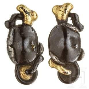 A pair of Japanese menuki, 2nd half of the Edo period