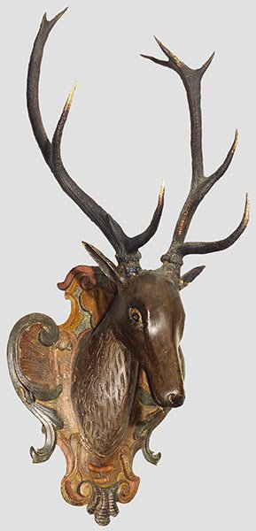 9: A baroque stag trophy