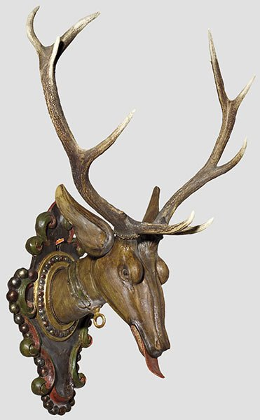 10: A baroque stag trophy