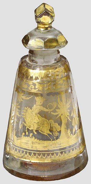 "12: A hunting ""Zwischengold"" flask"