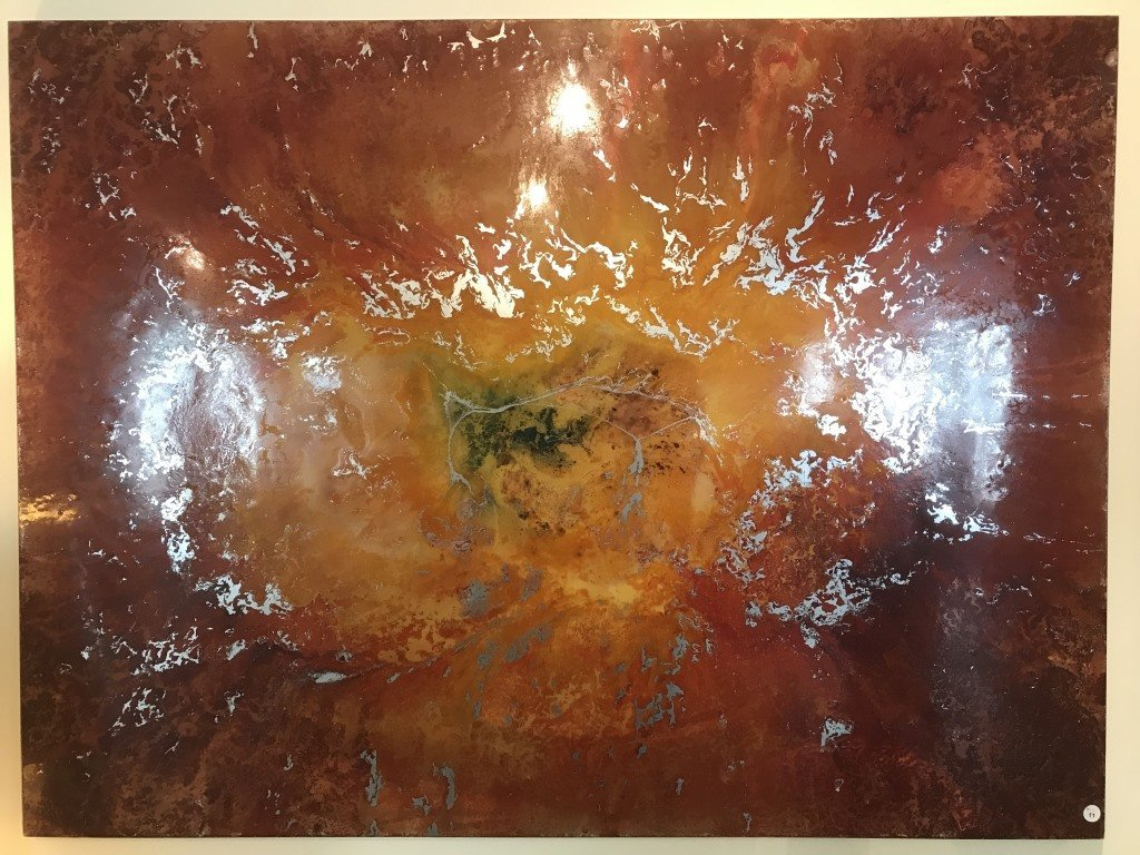 Abstract Art Piece Aaron Coleman Signed