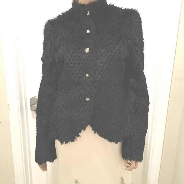 45b Georgio Armani Reversible Jacket Rabbit + Leather
