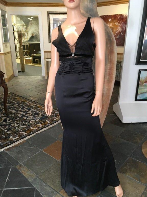 Roberto Cavalli Elegant Black Evening Gown
