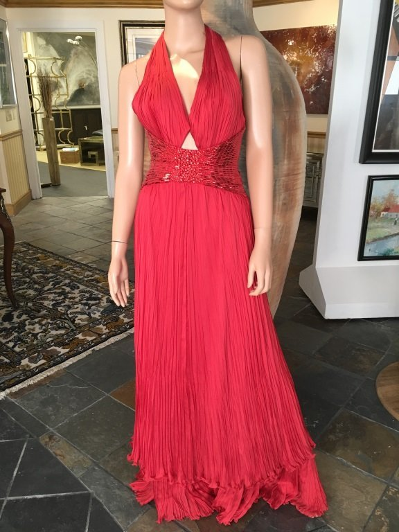 Roberto Cavalli Red Evening Gown