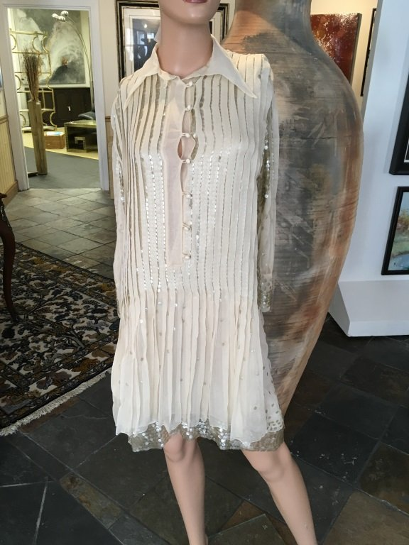 Cavalli Silk Sequence Cocktail Dress