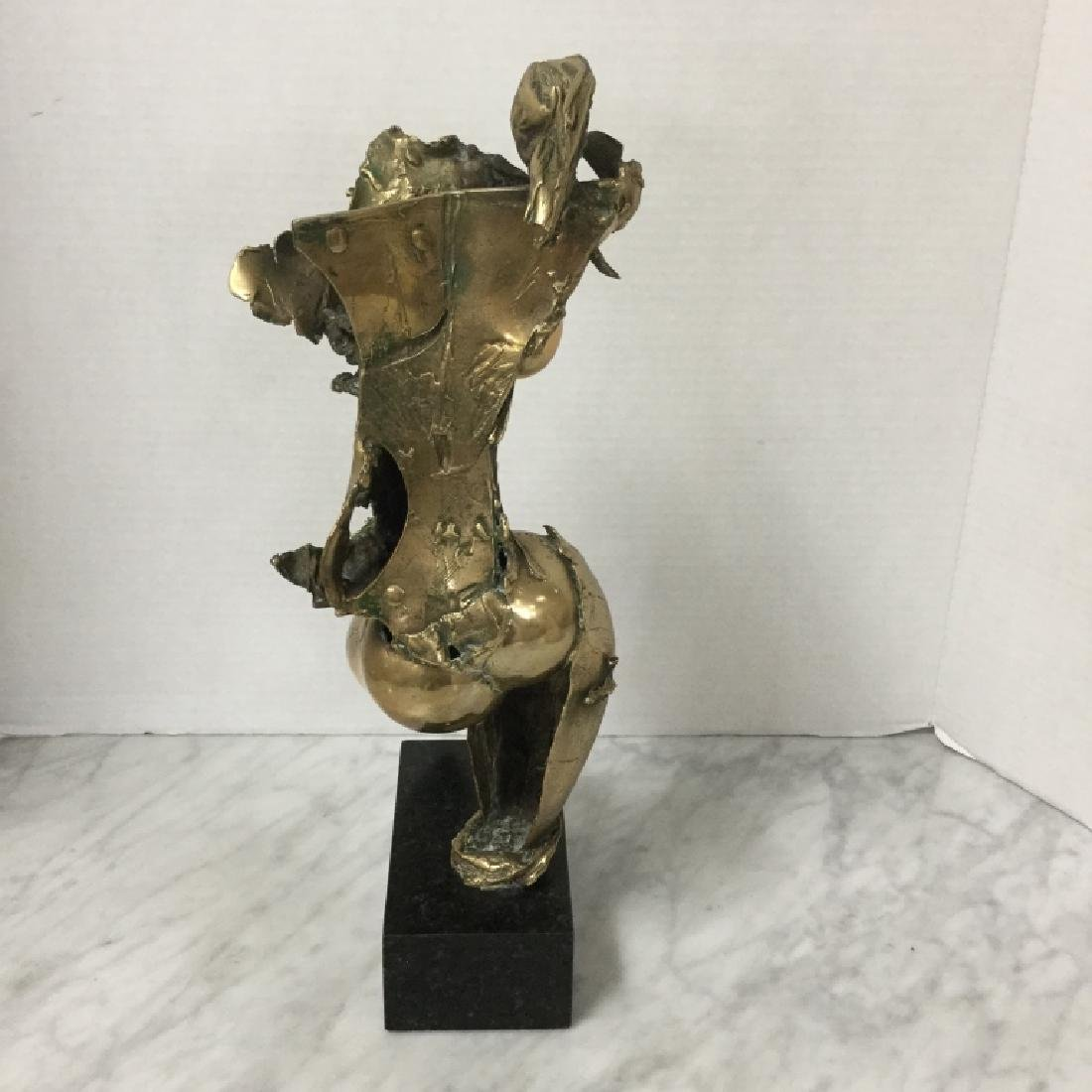 Brass Nude Sculpture, Signed PG 1980 - 4