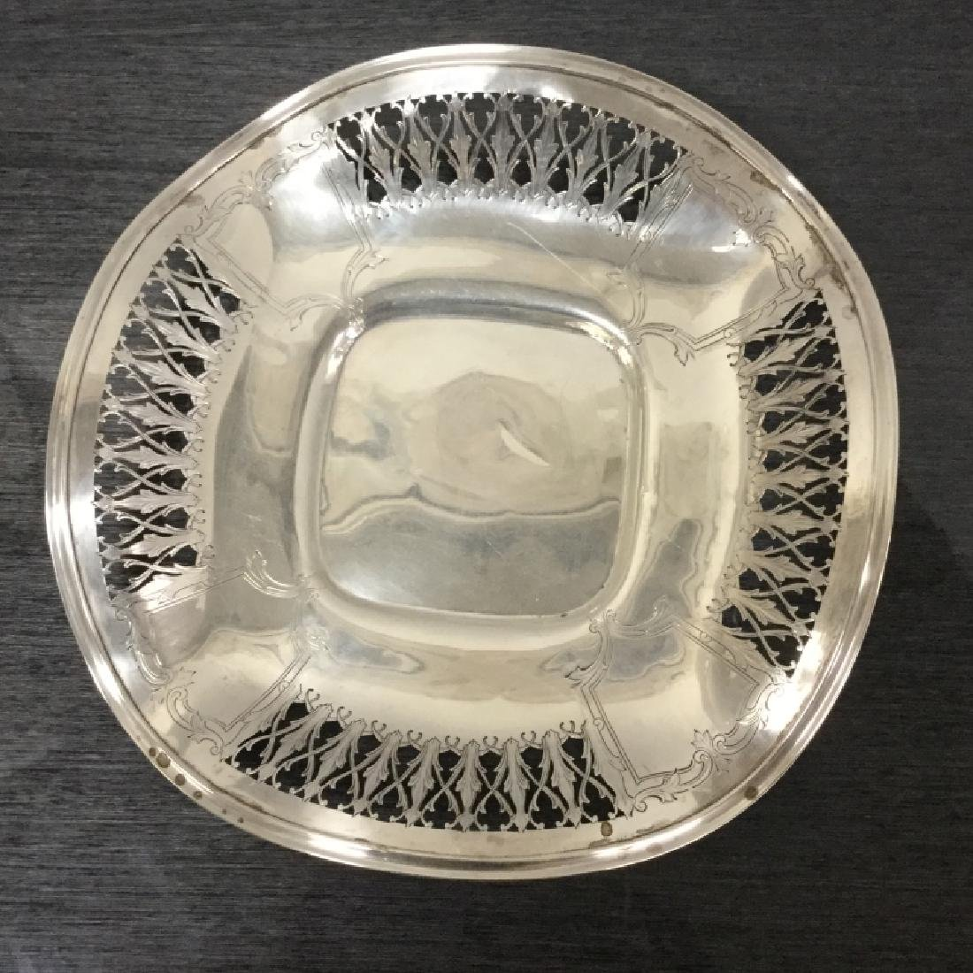 Vintage Sterling Silver Plate Reticulated Fluted