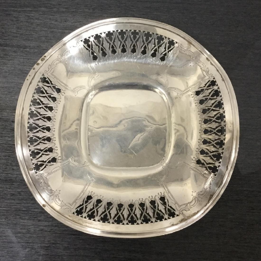Vintage Sterling Silver Plate Reticulated Fluted - 6