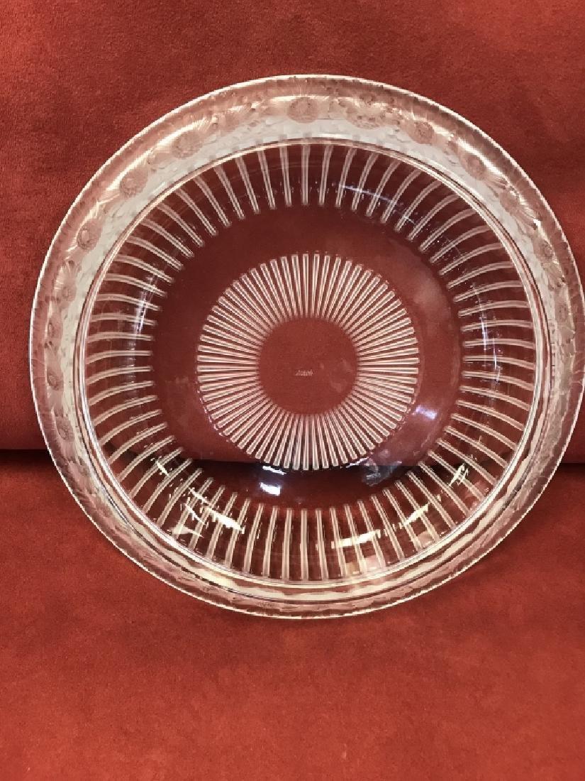 """Lalique Marguerites signed  Bowl 13"""" Centerpiece"""