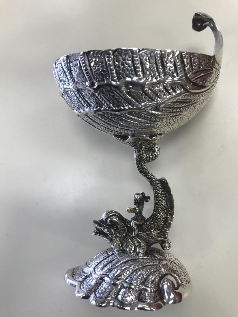 Pair of Sterling Monkey Riding a Dolphin Cups - 2