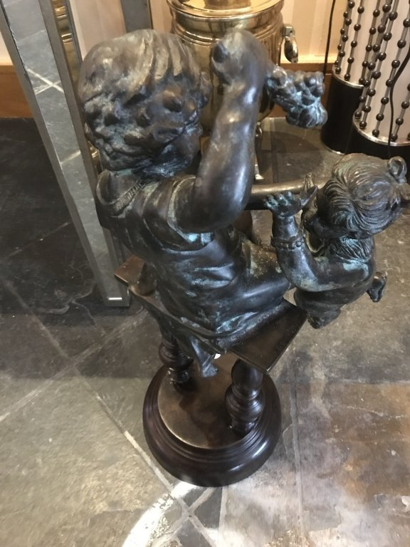 Maitland Smith Bronze Statue of Children - 2