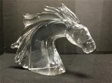 Daum France Crystal Horse Bust