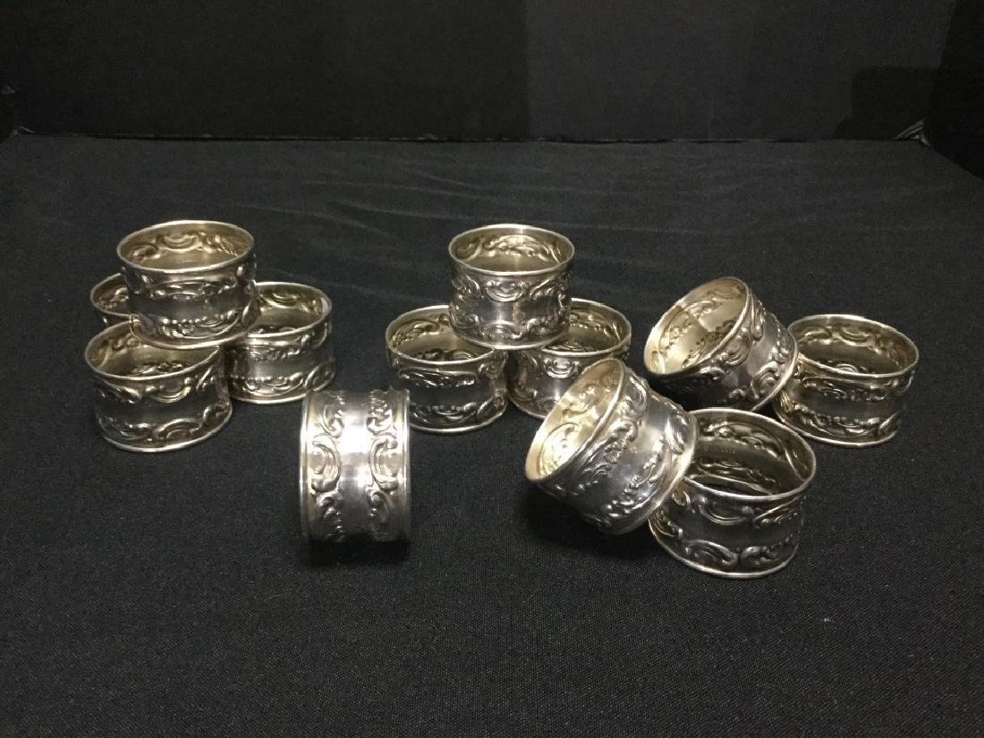 Gorham Sterling Silver Napkin Rings- Set of 12