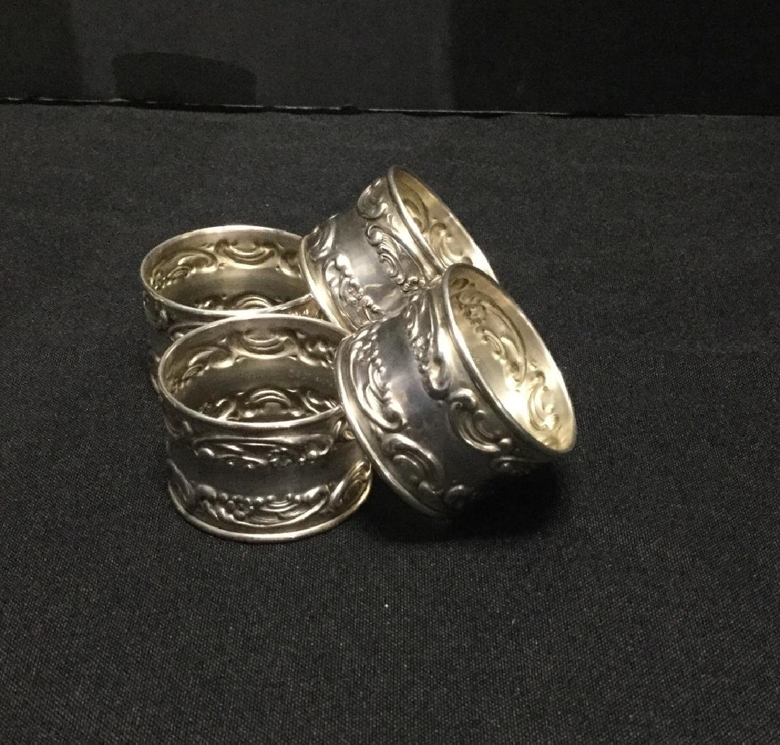 Gorham Sterling Silver Napkin Rings- Set of 12 - 3