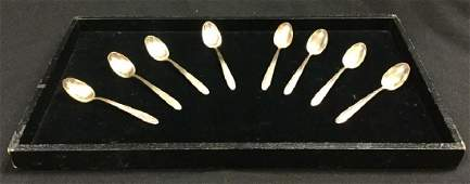 """Towle """"Madeira"""" 8 Sterling Silver Teaspoons Set 3"""