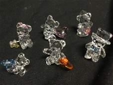Lot of Six Swarovski Teddy Bears