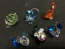 Lot of Six Swarovski Colored Animals