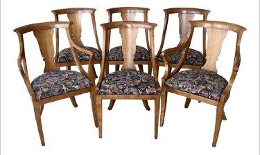 Groovy 6 Mid Century Modern Baker Harp Back Dining Chairs Nov 07 Ncnpc Chair Design For Home Ncnpcorg