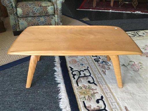 Heywood Wakefield Blonde Wood Coffee Table