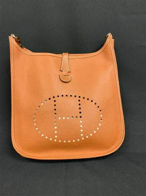 0f263f9dfbf0 HERMES EVELYNE CLEMENCE CROSSBODY BAG ORANGE NEW