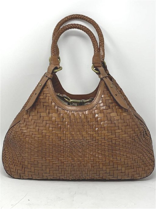 Gorgeous Cole Haan Woven Leather Hand Bag