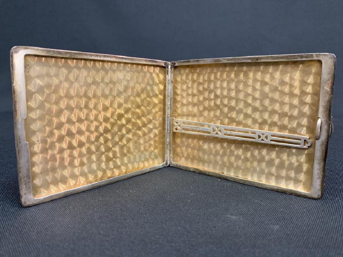 VINTAGE STERLING AND 14KT Y GOLD CIGARETTE CASE - 3
