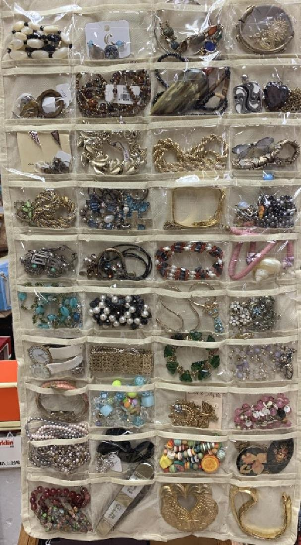 LARGE LOT OF OVER 80 PIECES OF COSTUME JEWELRY