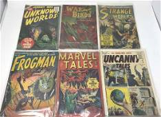 LOT OF 6 ACTION VINTAGE COMIC BOOKS