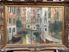 ITALIAN SCHOOL 20TH CENTURY O/C OF A VENICE SCENE