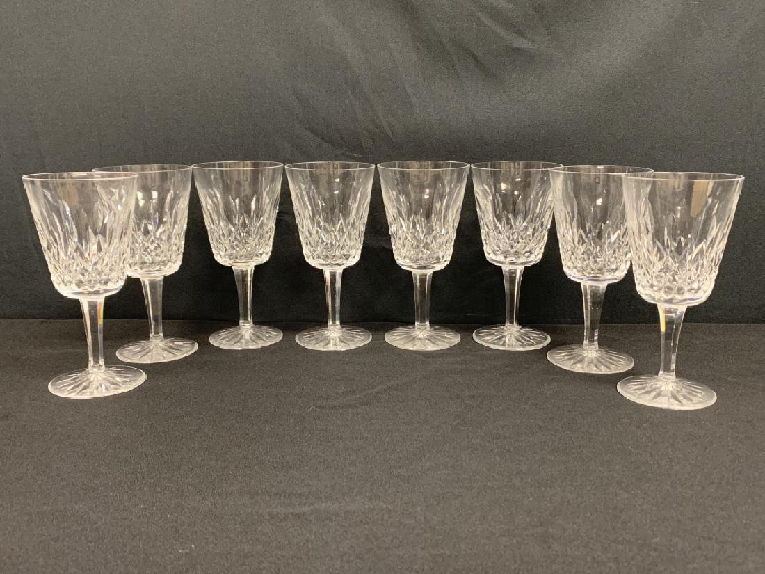 "WATERFORD CRYSTAL ""LISMORE""  (8) WATER GOBLETS"