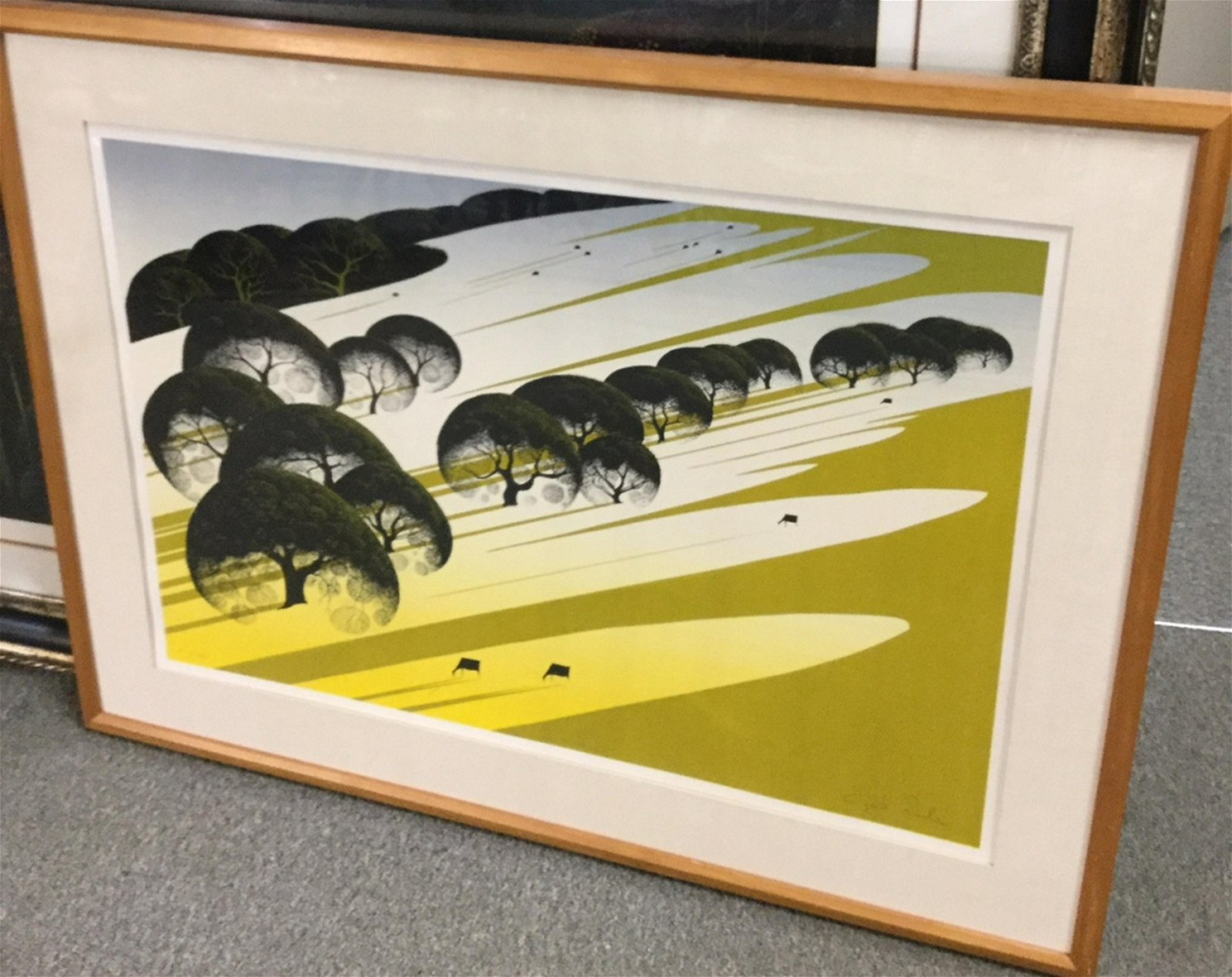 CATTLE COUNTRY BY EYVIND EARLE LTD ED SERIGRAPH