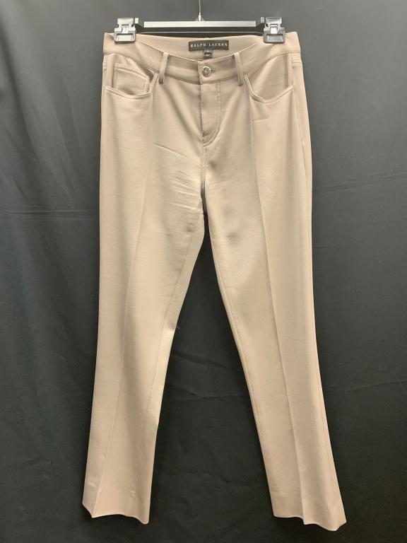 RALPH LAUREN CITY SMOOTH KHAKI DRESS PANTS SIZE 2