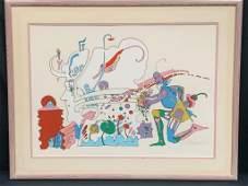 RARE 1970 PETER MAX SERIGRAPH FRAMED #92/100