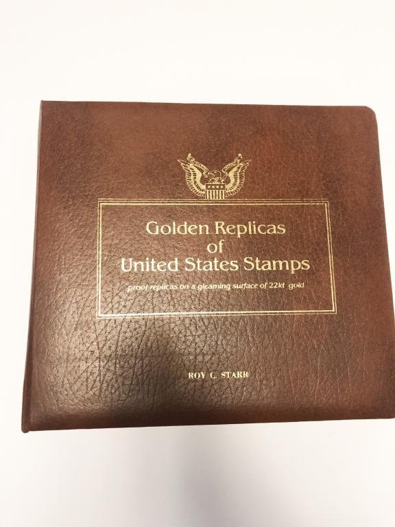 GOLDEN REPLICAS OF UNITED STATES STAMPS ALBUM