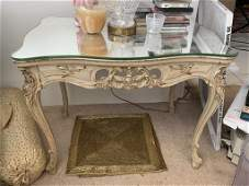 MIRROR TOP FRENCH COUNTRY CHIC SIDE END TABLE
